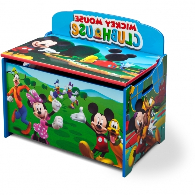 Image of Delta Childrens Products Disney Mickey Mouse Deluxe Toy Box Mickey Mouse Storage Bins