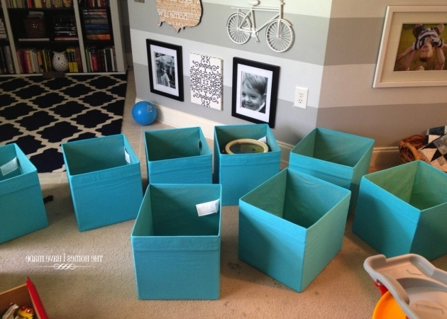 Image of Image Labeled Toy Bins The Homes I Have Made Turquoise Storage Bins