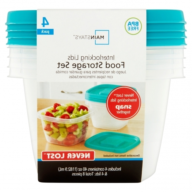 Image of Mainstays Never Lost 5 Cup Square Food Storage Container Walmart Divided Food Storage Containers