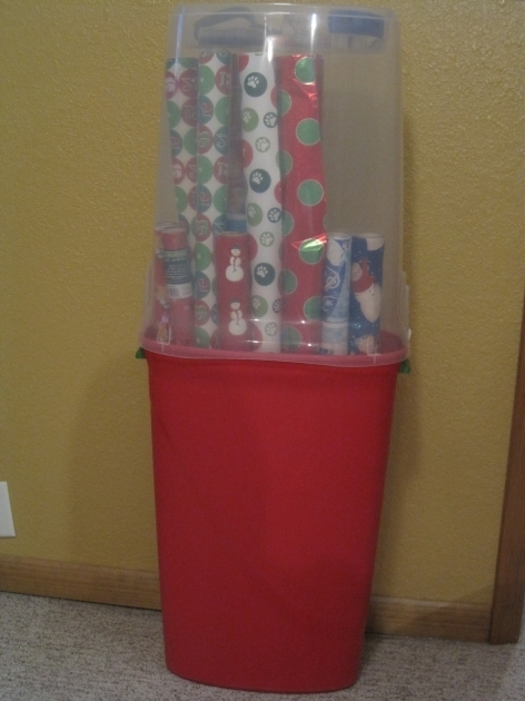 Incredible Rubbermaid Gift Wrap Storage Photo Album Mothers Day Card Wrapping Paper Storage Container