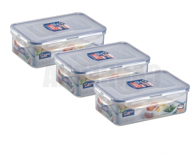 Marvelous 3 X Lock Lock Plastic Food Storage Lunch Box Container 1l Hpl817 Lock And Lock Storage Containers