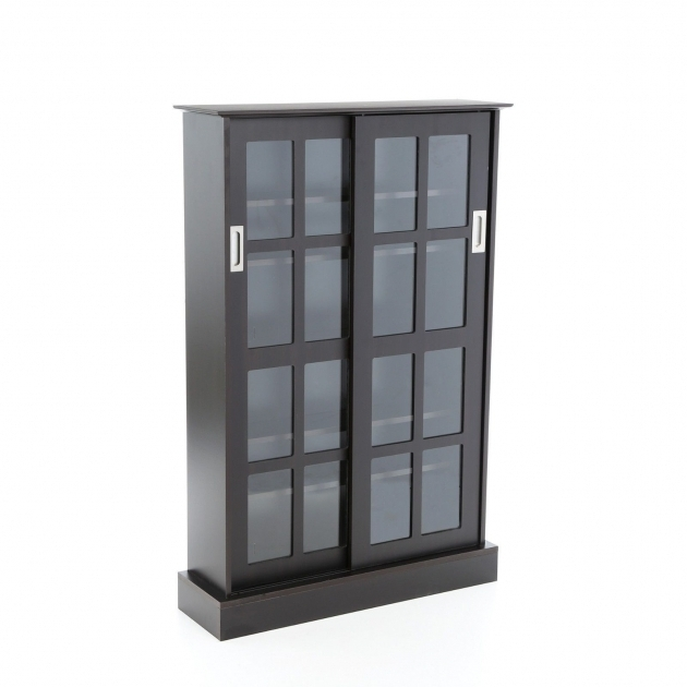 Marvelous Cd Media Storage Cabinet With Glass Doors Creative Cabinets Blu Ray Storage Cabinet