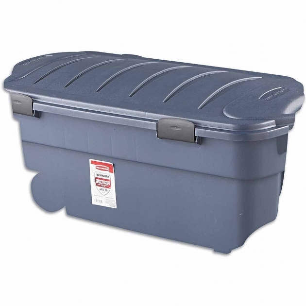 Marvelous Rubbermaid Roughneck Clear Storage Tote Bins 50 Qt 125 Gal Wheeled Storage Containers