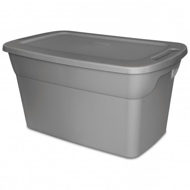 Marvelous Sterilite 30 Gallon Tote Box Steel Available In Case Of 6 Or 30 Gallon Storage Bins
