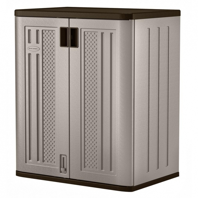 Marvelous Suncast 30 In X 36 In 2 Shelf Resin Base Storage Cabinet In Suncast Base Storage Cabinet