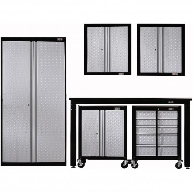 Outstanding Gladiator Cadet 6 Piece Garage Storage System Walmart Gladiator Storage Cabinets