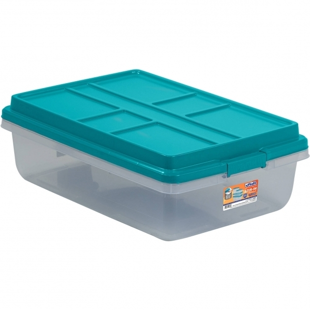 Outstanding Hefty 40 Qt Hi Rise Clear Latch Box Teal Sachet Lid And Handles Teal Storage Bins