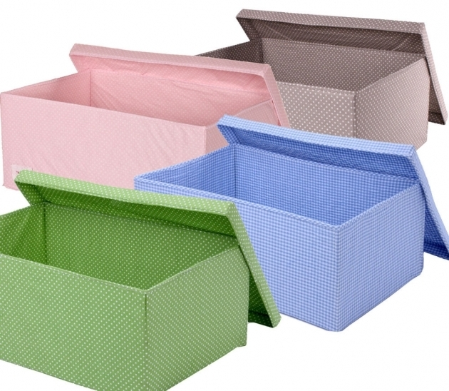 Picture of Fabric Storage Boxes Crafthubs Collapsible Canvas Storage Bins