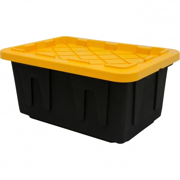 Picture of Homz 15 Gallon Tough Tote Blackyellow Walmart Husky Storage Containers