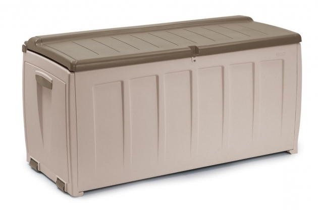Picture of Inexpensive Garden Shed With Modern Outdoor Storage Bins And Long Storage Bins With Locks