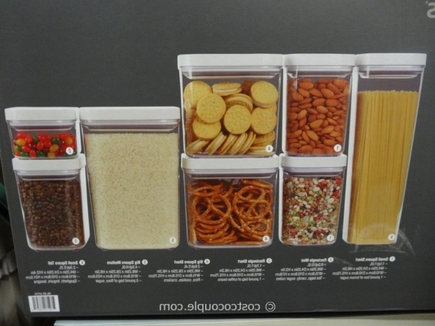 Picture of Oxo 8 Piece Pop Container Set Costco Storage Containers