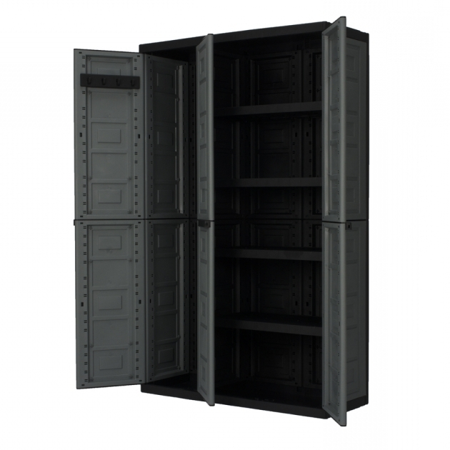 Picture of Shop Garage Cabinets Storage Systems At Lowes Resin Storage Cabinets