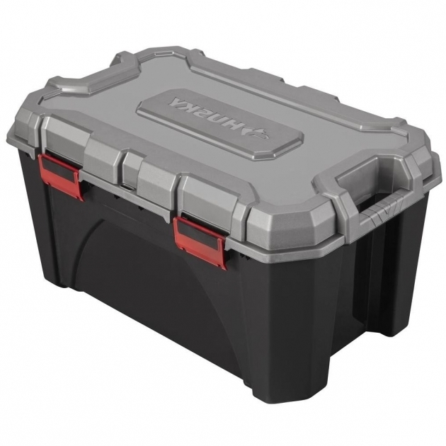 Remarkable Husky 20 Gal Storage Tote 17200553 The Home Depot Husky Storage Containers