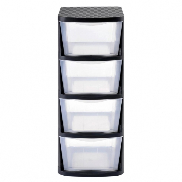 Remarkable Muscle Rack 4 Drawer Clear Plastic Storage Tower With Black Frame Plastic Storage Containers With Drawers