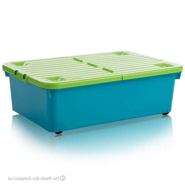 Stunning Buy 32 Litre Under Bed Plastic Storage Box With Folding Lid And Wheels Plastic Storage Containers With Wheels