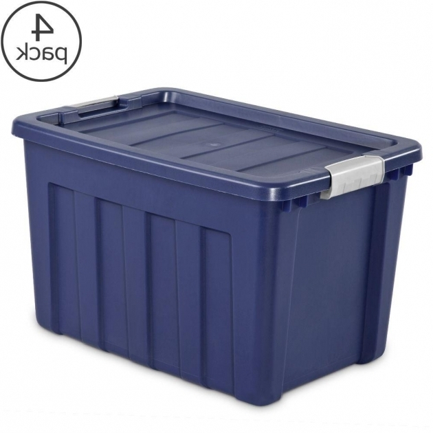 Stunning Sterilite 100 Qt Ultra Tote 4 Pack 16877404 The Home Depot 100 Gallon Storage Bin