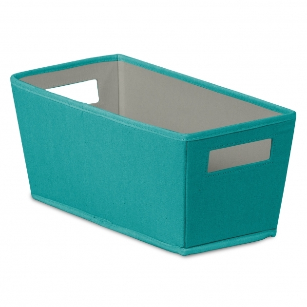 Stylish Bin Fabric Quarter Storage Bin Reviews Wayfair Teal Storage Bins