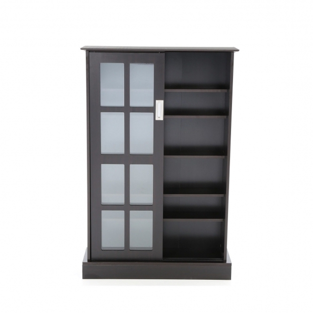 Stylish New Dvd Cd Blu Ray Media Storage Cabinet Glass Doors Wood Video Blu Ray Storage Cabinet