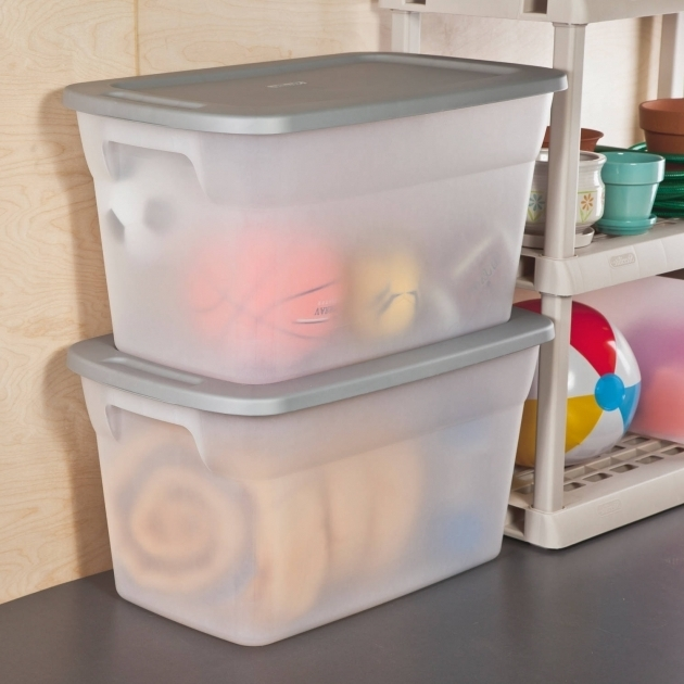 Stylish Sterilite 30 Gallon Tote Box Clear Available In Case Of 6 Or 30 Gallon Storage Bins