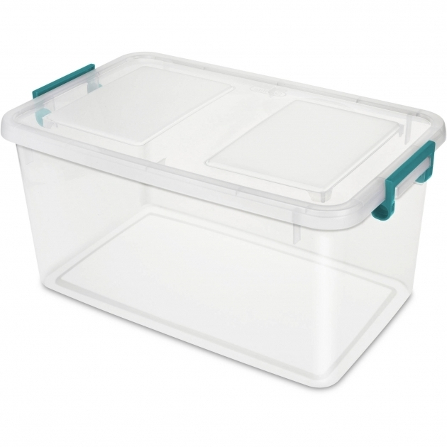 Stylish Sterilite 51 Qt Modular Latch Box Teal Sachet Available In Case Plastic Storage Bins With Lids