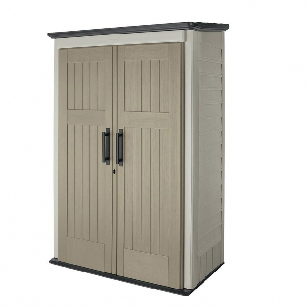 Amazing Rubbermaid 4 Ft X 2 Ft 5 In Large Vertical Storage Shed 1887156 Home Depot Outdoor Storage Cabinets