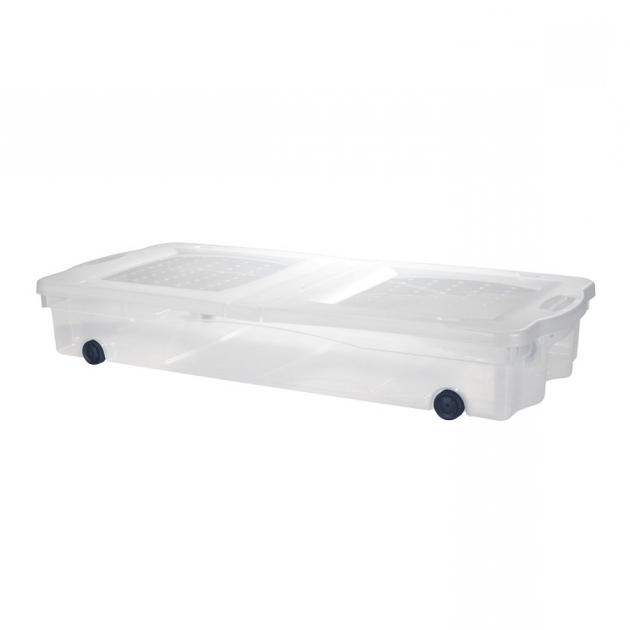 Amazing Shop Rubbermaid Slimfit Wheeled Underbed Box At Lowes Under Bed Plastic Storage Bins