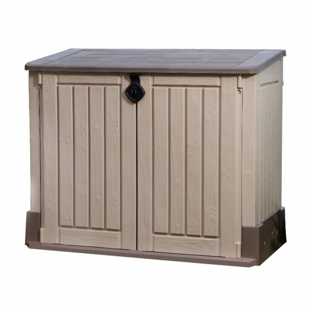 Inspiring Keter 4 Ft X 2 Ft Store It Out Midi Horizontal Resin Shed 211166 Home Depot Outdoor Storage Cabinets