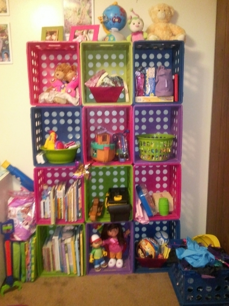 Alluring Colorful Milk Crates Make Great Storage Shelves For Kids Room Milk Crate Storage Bin
