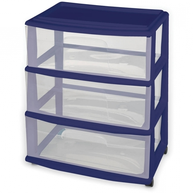 Alluring Sterilite 3 Drawer Desktop Unit Walmart Storage Containers With Drawers
