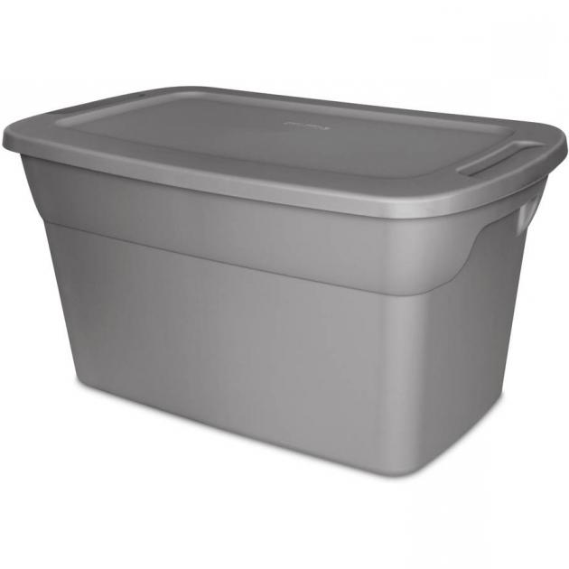 Alluring Sterilite 30 Gallon Tote Box Steel Available In Case Of 6 Or Sterilite Storage Bins