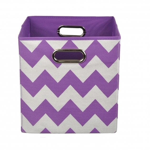 Amazing Modern Littles Color Pop Folding Storage Bin Purple Chevron Purple Storage Bins