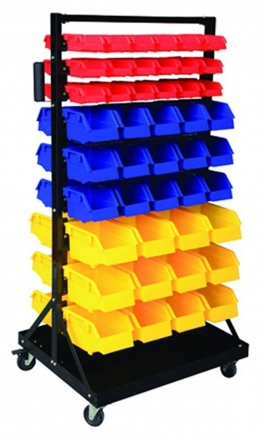 Amazing Parts Organizer Rack Bins 90 Seperate Storage Buckets Shop Small Nut And Bolt Storage Cabinets