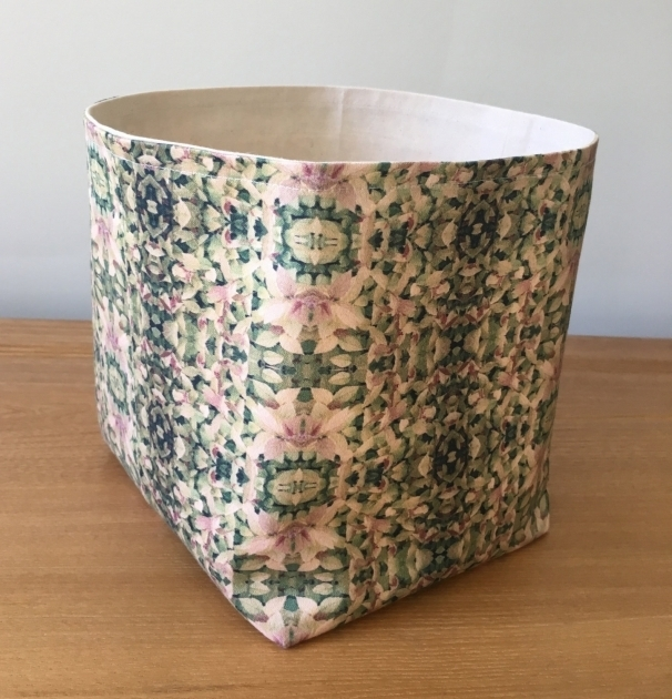 Amazing Sale Green Large Soft Fabric Basket Bucket Storage Bin Soft Soft Storage Bins