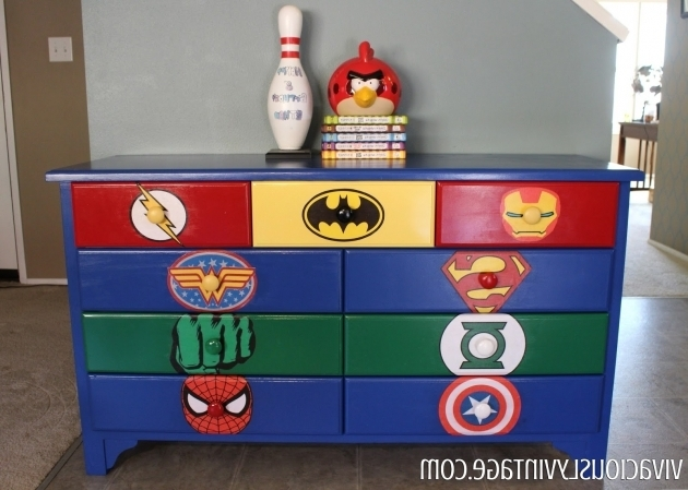 Amazing Superhero Dresser Commission Facebook Awesome And Boys Superhero Storage Bins