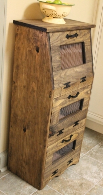 Amazing Vegetable Bin Wood Potato Bread Box Storage Rustic Cupboard Wooden Vegetable Storage Bin