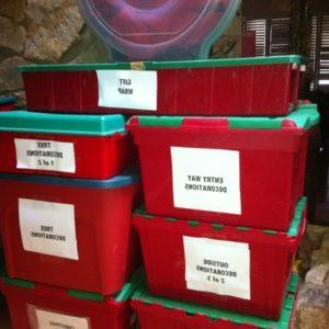 Christmas Storage Bins