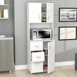 Microwave Cabinet With Storage