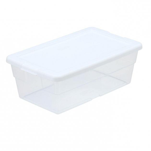Best Sterilite 6 Qt Storage Box In White And Clear Plastic 16428960 Sterilite Storage Bins