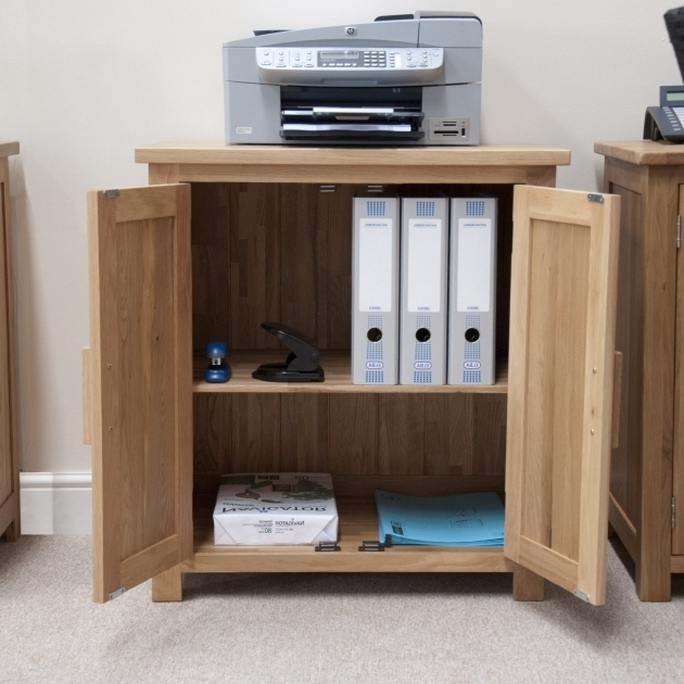 ... Fantastic Eton Solid Oak Modern Furniture Home Office Printer Storage  Printer Storage Cabinet ...