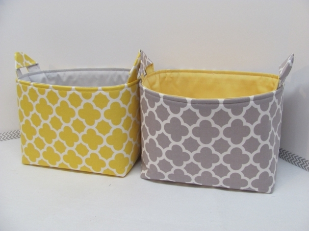 Fantastic Fabric Storage Baskets Crafthubs Yellow Fabric Storage Bins