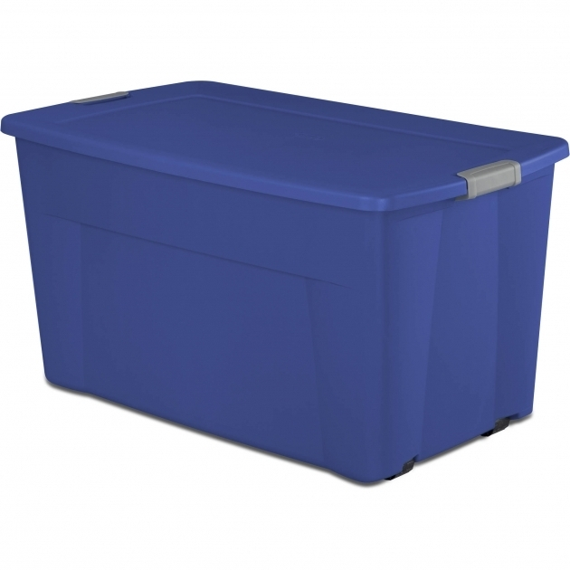 Fantastic Sterilite 45 Gallon Wheeled Latch Tote Storage Bins