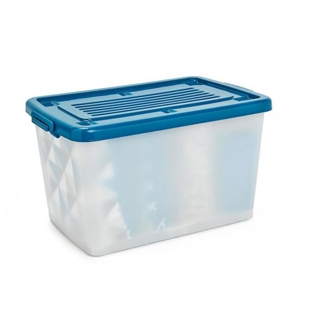Fascinating 80l Storage Container On Wheels Kmart Kmart Plastic Storage Bins