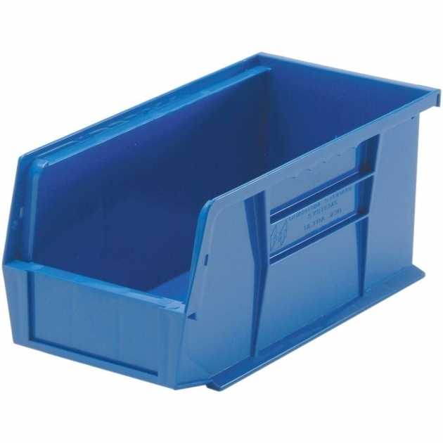 Fascinating Edsal 13 Gal Stackable Plastic Storage Bin In Blue 12 Pack Home Depot Storage Containers