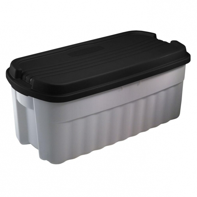 Fascinating Rubbermaid Roughneck 10 Gal Storage Tote Fg2214tpmicbl The Home Home Depot Storage Containers