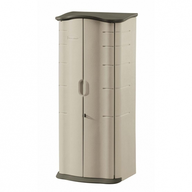Gorgeous Rubbermaid 2 Ft X 2 Ft Vertical Storage Shed Fg374901olvss The Upright Storage Cabinet