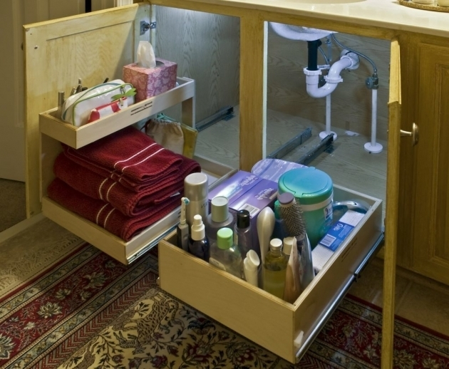 Under cabinet storage solutions storage designs for Under counter bathroom storage ideas