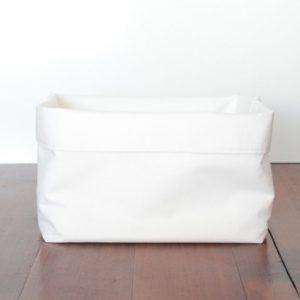 White Fabric Storage Bins