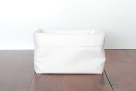 White Fabric Storage Bins