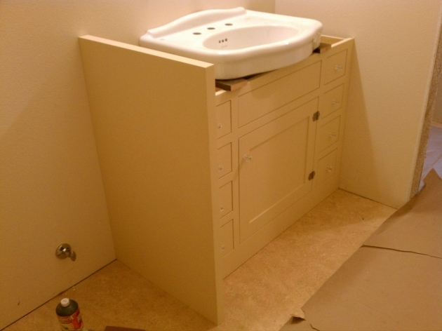 Image Of Attractive Under Pedestal Sink Storage Cabinet