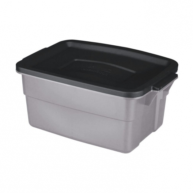 image of rubbermaid 3 gal roughneck storage tote the home heavy duty plastic storage containers